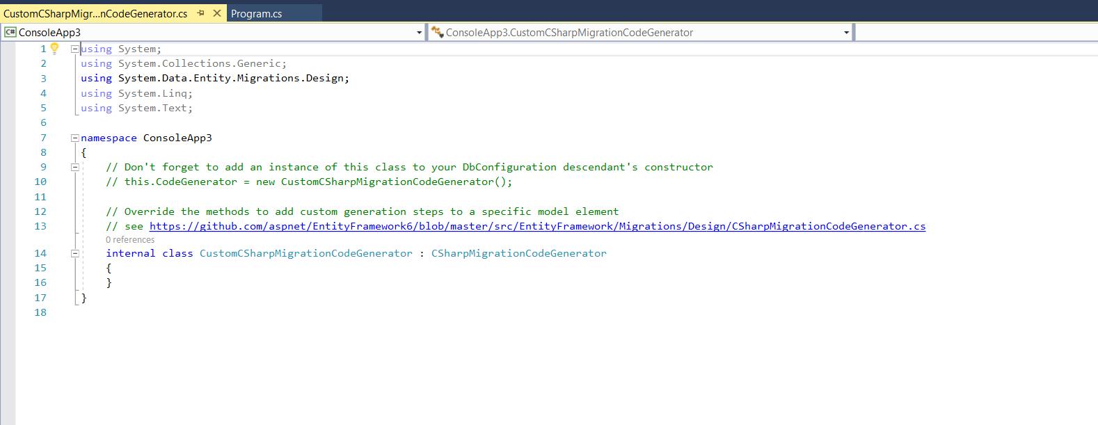 Entity Framework Code First Generator Templates - Visual