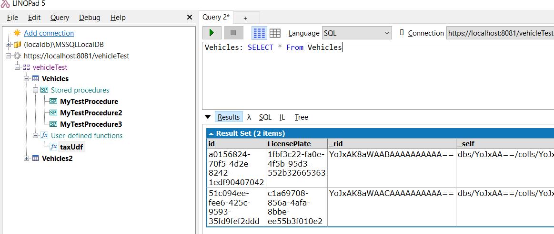 LinqPad DocumentDb (now CosmosDb) driver